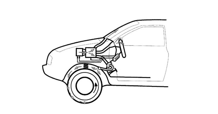 Sistema per aumentare l'aderenza dei pneumatici