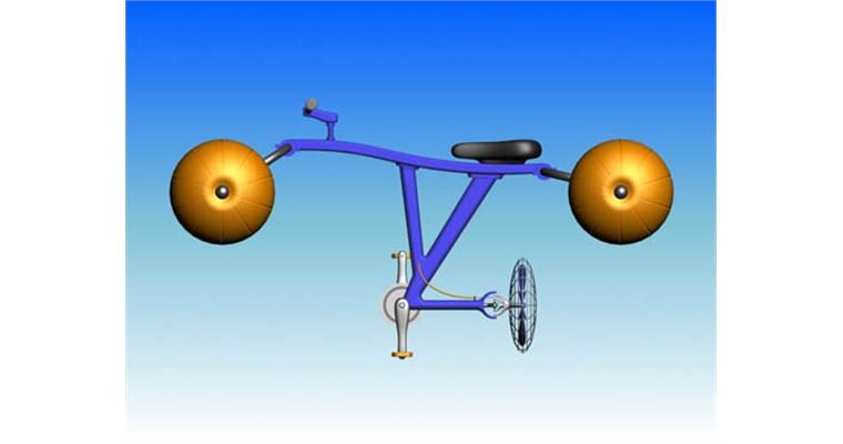 Avveniristica bicicletta da acqua