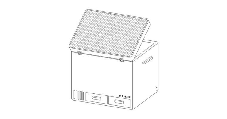 Innovativo frigorifero solare da campeggio